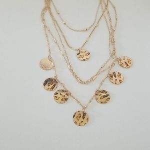 New 3/$20 Tiered Leopard Print Necklace